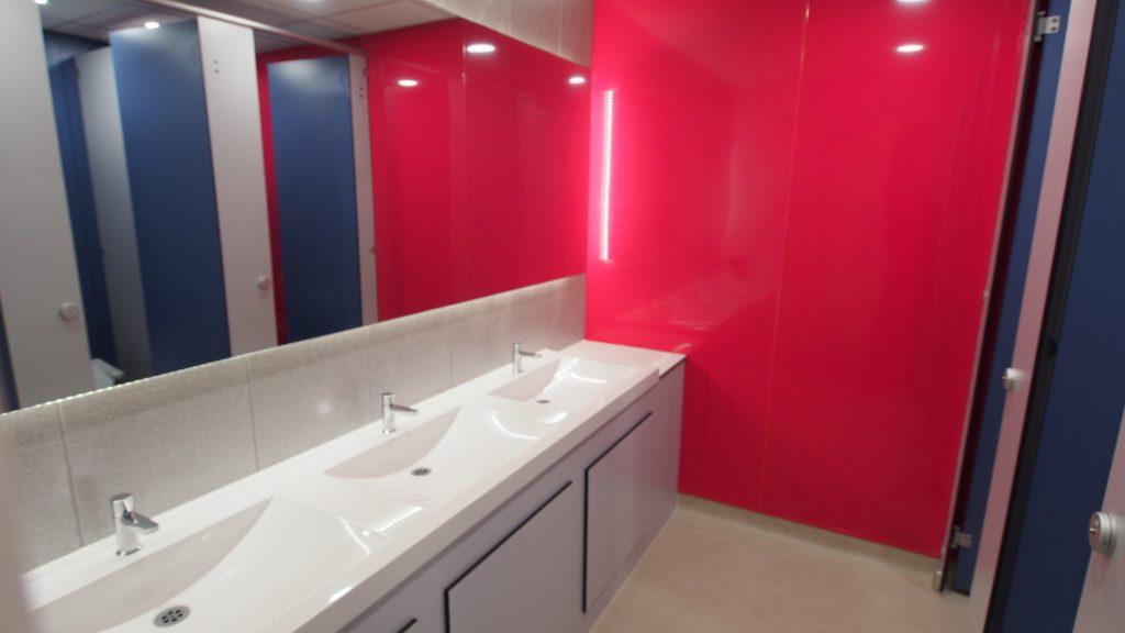 colourful washroom uk