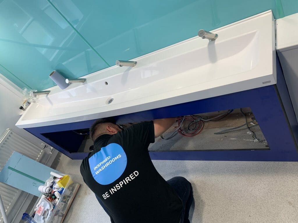 Professional washroom fit out team